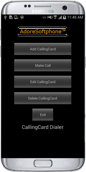 Calling Card Dialer