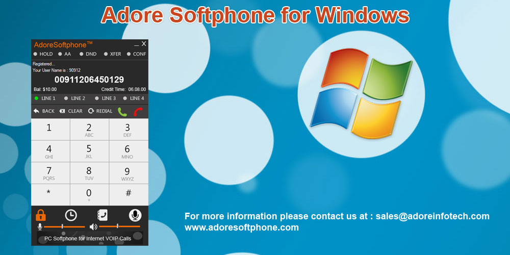 Softphone, a virtual phone for calling through computer and